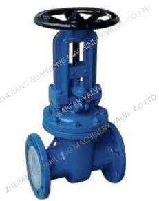 Anti Corrosive Teflon Lined Gate Valve pictures & photos