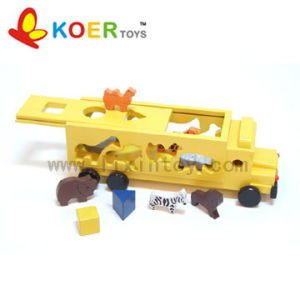 Wooden Toy - Animal Truck