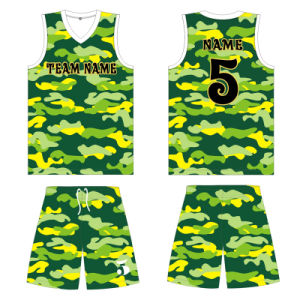 Customized Youth Dye Sublimation Basketball Uniform with Mesh Fabric pictures & photos