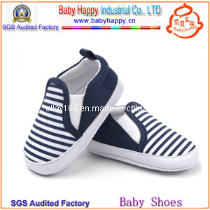 Blue Stripe Hot Sales Wholesales Baby Canvas Shoes