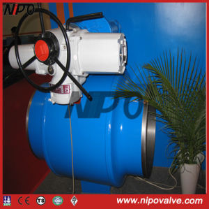 Trunnion Fully Welded Ball Valve with Electric Actuator pictures & photos
