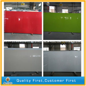 Red/Green/White/Black Enginereed Solid Surface Artificial Quartz Stone pictures & photos