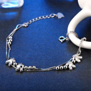Lovely 925 Sterling Steel Bracelet Beads & Rabbit Links Ol Style Young Design pictures & photos