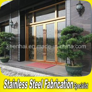 Commercial Building Stainless Steel Entry Glass Door Frame pictures & photos