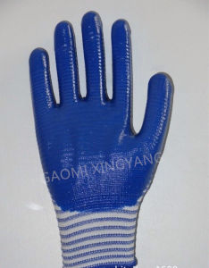 Natrile Coated Glove Labor Protective Safety Work Gloves (N7006) pictures & photos