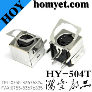 High Quality Min Pin Connector with Four Needles (HY-504T) for Wiring Equipment pictures & photos