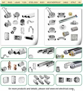 Zinc Squeeze Connector Straight Type for Flexible Conduit/Hose pictures & photos