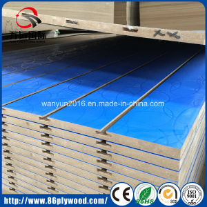 17mm Blue Melamined Slotted MDF pictures & photos