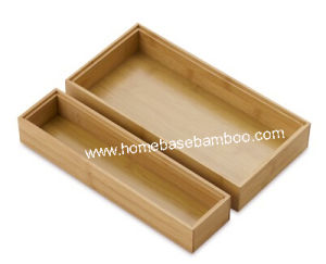 Bamboo Box Drawer Gadget Cutlery Tray Flatware Organizers Storage Hb5000 pictures & photos