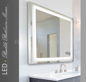 China ip44 led hotel mirror 304 rating stainless steel Stainless steel framed bathroom mirrors