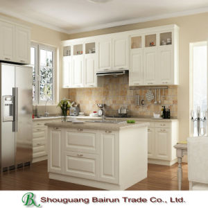 Melamine Kitchen Cabinet with PVC Film Cabinet Door pictures & photos