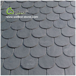 oval shape roofing slate black slate roof tile
