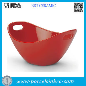 Red Ceramic Dinner Bowl with Chopstick Holder pictures & photos