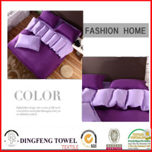Microfiber Solid Color Bed Sets Df-8618 pictures & photos
