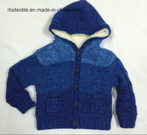 Baby Boy Hooded Cardigan - Acrylic True Knitted pictures & photos