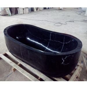 Stone Marble Tub Hottubs Black Bathtub From Bathroom Store pictures & photos