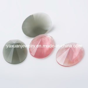 Flat Back Oval Resin Stone Bead for Jewelry Accessory