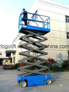 Model Hydraulic Manual Electric Mobile Scissor Lift Platform/Self-Propelled Working Platform Scissor Lift with Ce pictures & photos