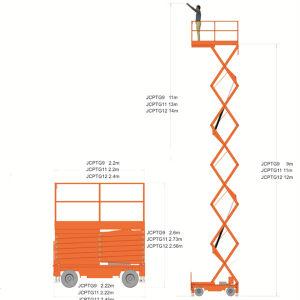 12m Semi-Electric Scissor Lift (JCPTG12) pictures & photos