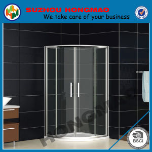 Bathroom Tempered Glass Arc Simple Shower Cubicle Enclosure with Tray