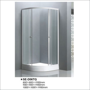 Tempered Glass Shower Room with Sector Tray pictures & photos