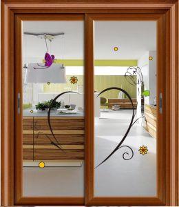 Double Wings Customized Good Design Aluminium Glass Interior Door pictures & photos