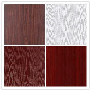 China Wood Imitate Pvc Coated Lamination Stainless Steel