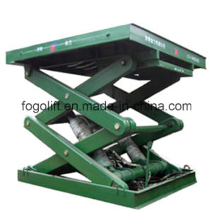 Pit Mounted Goods Lift Warehouse Elevators /Hydraulic Stationary Cargo Scissor Lifter pictures & photos