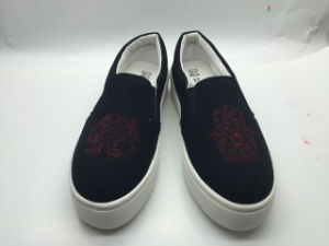 PVC /Rubber/TPR Leisure Shoes with Embroidery Upper (6122) pictures & photos