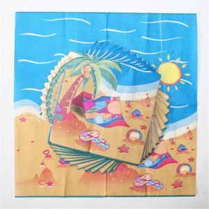 Seabeach Printed Paper Tableware Napkin Serviette for Party pictures & photos