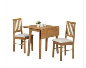 Dining Table and Chairs Kitchen Extendable Small Adjustable Wood Pine Drop Leaf  pictures & photos