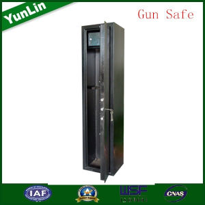 The Single Mechanical Lock Gun Safe Cabinet Have Ammo Box.
