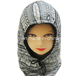 Fashion Fleece Warm Hat Autumn and Winter Pattern Hooded Outdoor Warm Wind Cap pictures & photos