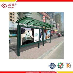 Polycarbonate Bus Station Canopy Ym-PC-20150328 pictures & photos