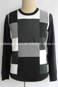 Men Knitted Sweater Clothes in Round Neck Long Sleeve (M15-033)