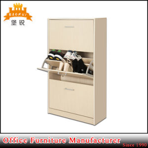 Factory Prices Simple Design Cheap Steel Three Drawers Shoe Cabinet pictures & photos