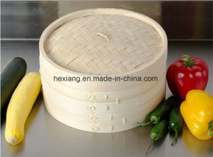 Different Size Bamboo Steamers for Health Foods pictures & photos