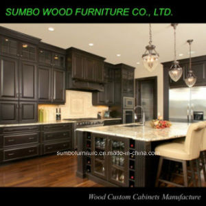 High Quality Solid Wood Kitchen Cabinet (SBK-006)