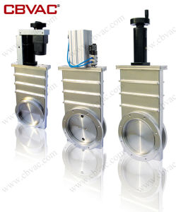 Pneumatic Gate Valve with CF Flange (Small) / Vacuum Gate Valve / Gate Valve pictures & photos
