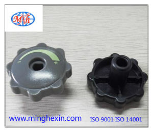 Black and Gray Plastic Rotary Knob pictures & photos