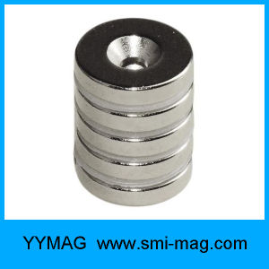 N52 NdFeB Magnet Ring Neodymium Round Magnet with Counterbore pictures & photos