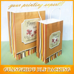 Printed Paper Kraft Shopping Bag pictures & photos