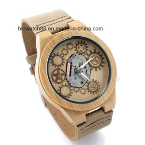 New Arrived Unique Bamboo Watch Wooden Wrist Watches for Men pictures & photos