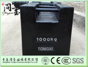 OIML M1 Cast Iron 1000kg Test Weight for Crane for Weighting Bridge Calibration Weight pictures & photos