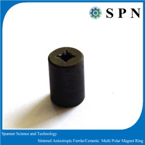 Industrial Permanent Ferrite Sintered Magnet Rings for Motors pictures & photos