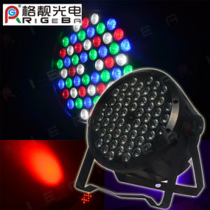LED PAR64 54X1w RGBW Plastic Wash Color PAR Can Light pictures & photos