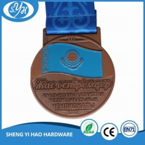 Customized Shiny Silver Finished Soft Enamel Medal pictures & photos