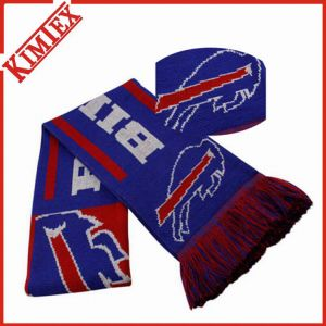 100% Acrylic Knitted Custom Woven Sports Scarf pictures & photos