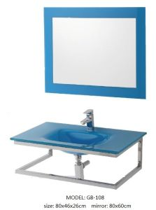 Sanitary Ware Glass Vanity with Silver Mirror
