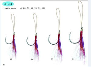 Fishing Hook /Assist /Stainless Steel and High Carbon Hook/Fishing Accessories Jh-33&Jh-34 pictures & photos